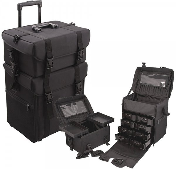 2 in 1 Rolling Wheeled Makeup Case