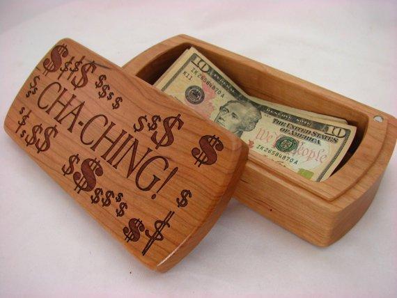 Wooden Money Storage Box