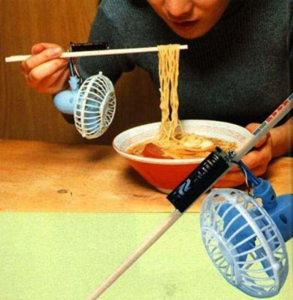 Fan Your Noodles to Cool Them down Enough to Eat