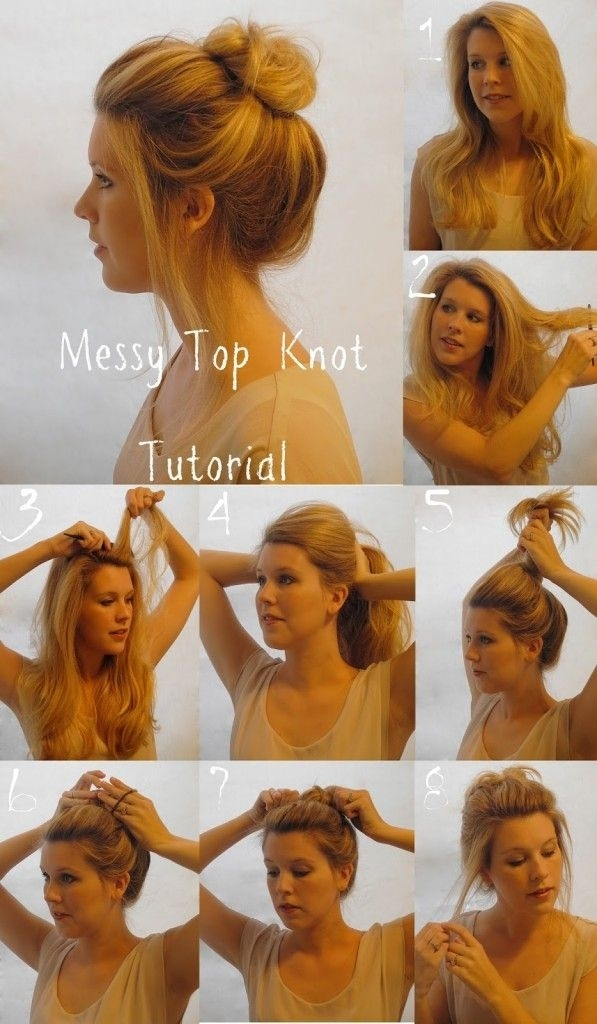 Messy top knot 17 gorgeous hairstyles for lazy girls