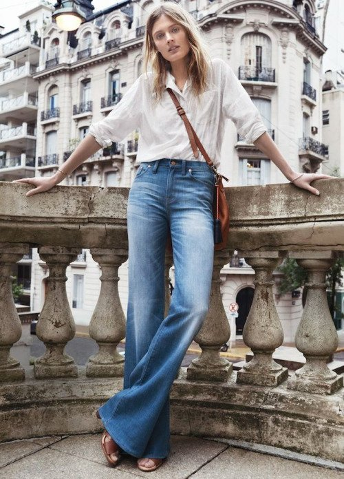 Channel the 70s with Flared Jeans