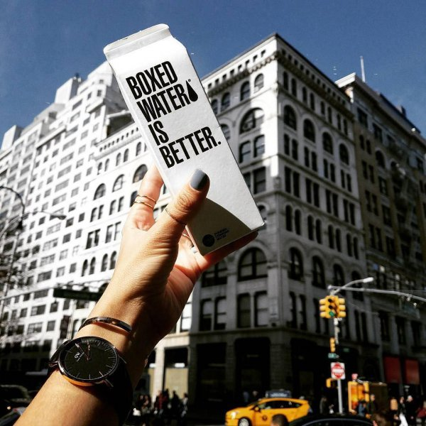 Boxed Water, protest, advertising, BOXED, WATER,