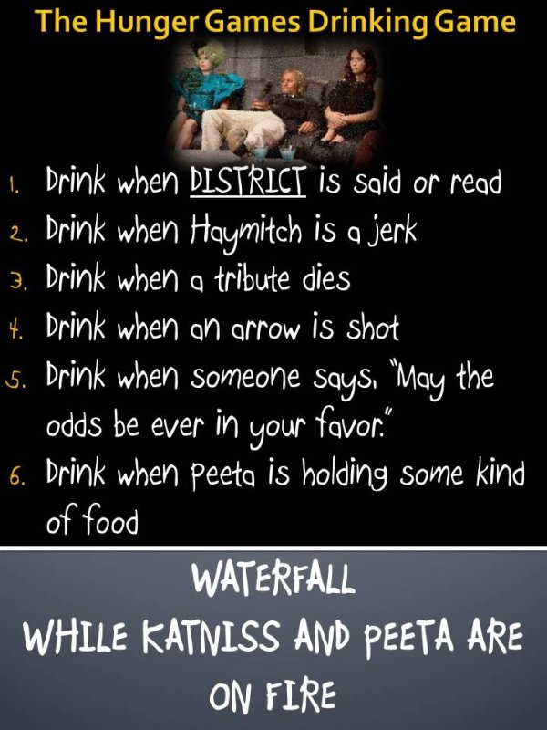 Hunger Games Drinking Game