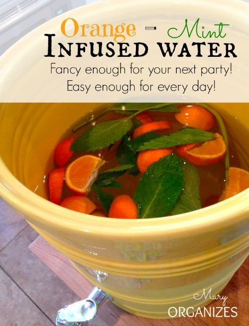 Orange-Mint Infused Water