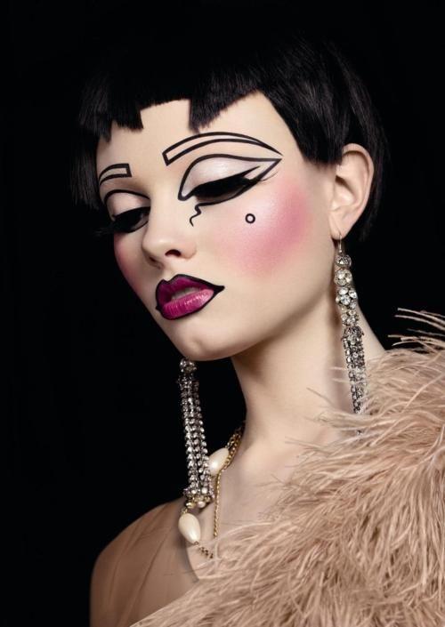 17 art deco   beauty or art stunning avant garde makeup