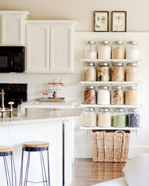 Add Pantry Shelves to a Blank Wall