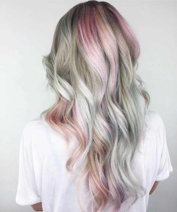 hair, human hair color, pink, blond, hairstyle,