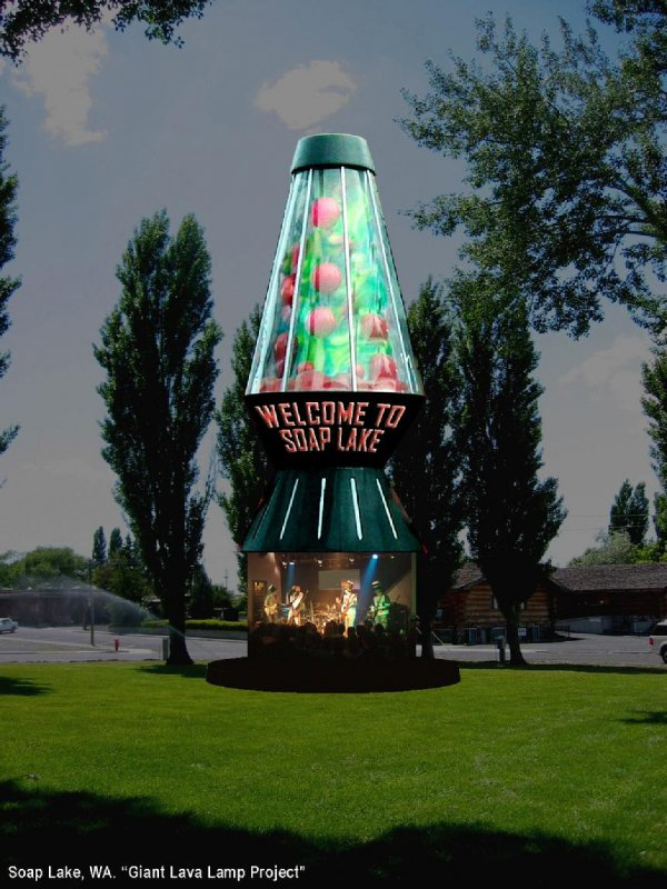 The World's Largest Lava Lamp, Soap Lake, Washington - When You…