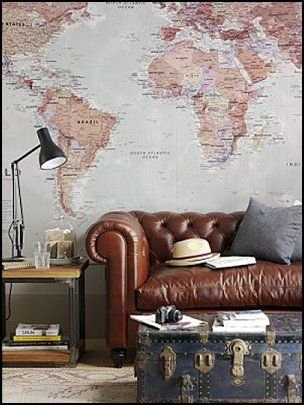 Travel Themed Room