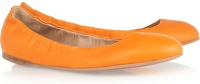 Jil Sander Leather Ballerina Flats
