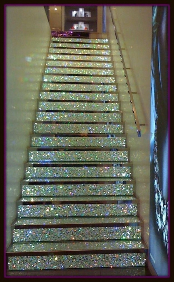 A Glitter Staircase - No Instructions but I Had to Share
