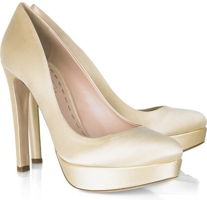 Miu Miu Satin Platform Pumps