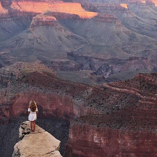 Grand Canyon, canyon, painting, badlands,