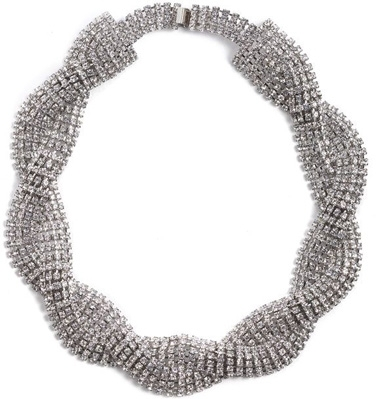 Crystal Collection Braided Necklace