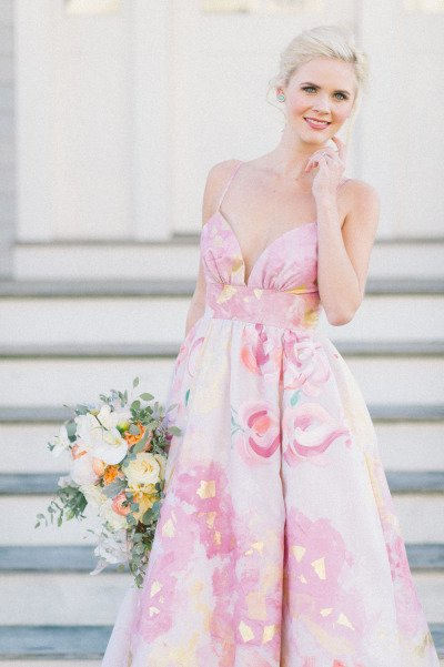 pink,wedding dress,dress,clothing,gown,