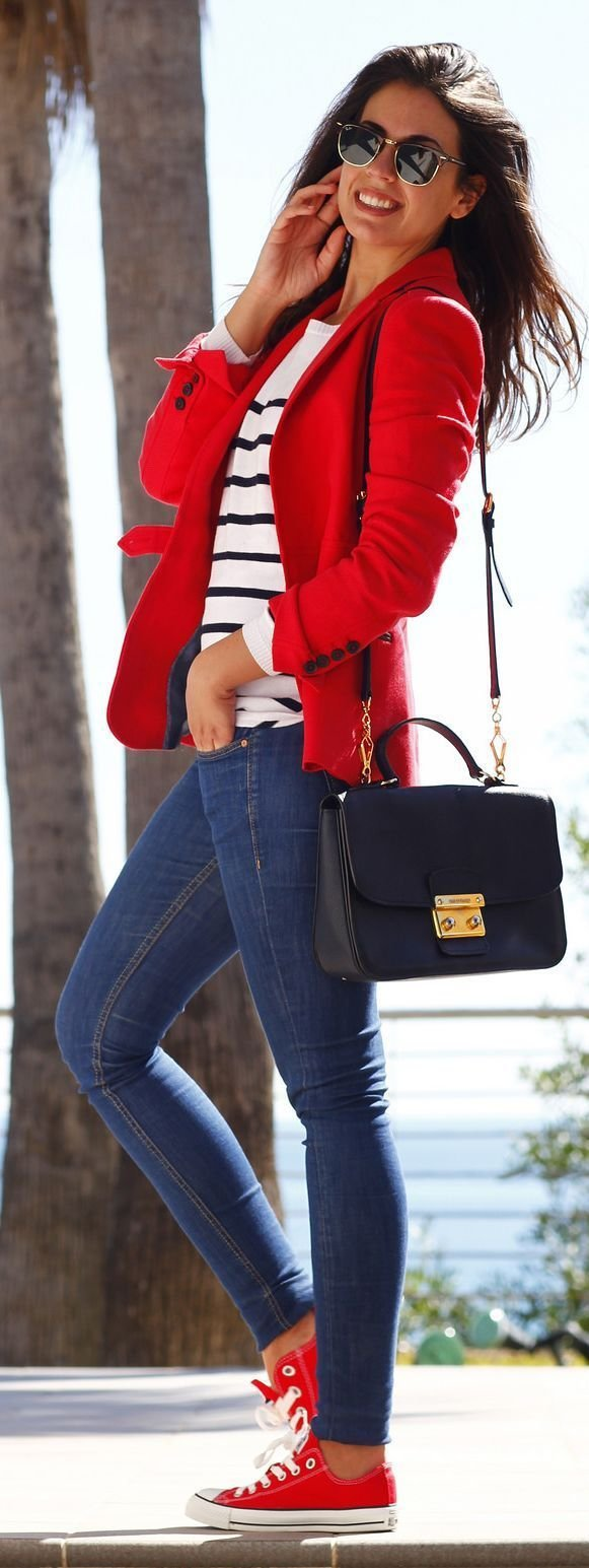 Stripes with Red Accent