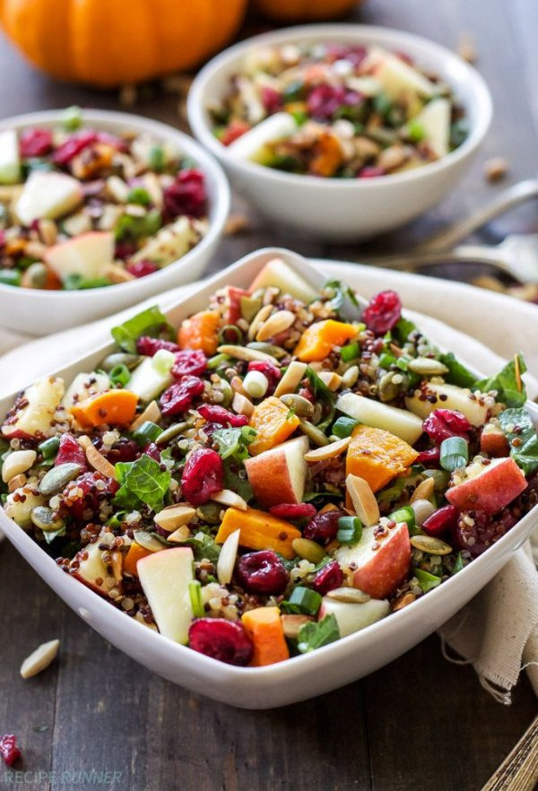33. Harvest Quinoa Salad - These Hearty Salads Will Fill You up at…