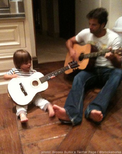 Celeb Dad David Charvet & Son...