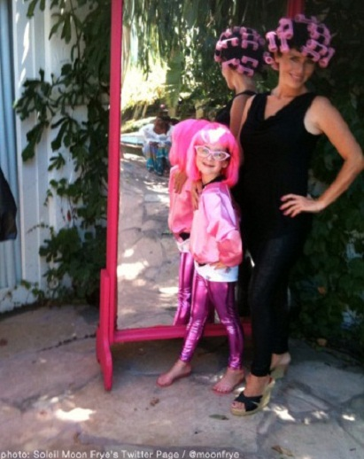 Celeb Mom Soleil Moon Frye & Daughter...