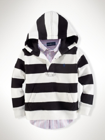 Striped Hoodie: Ralph Lauren Designer Clothes for Kids...