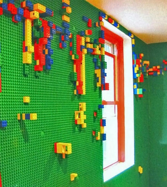 lego wall as far as kids room ideas - Boys Room Lego Ideas