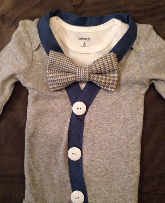 Bow tie 28 really cute infant outfits you 39 ll want for your for Baby shirt and bow tie