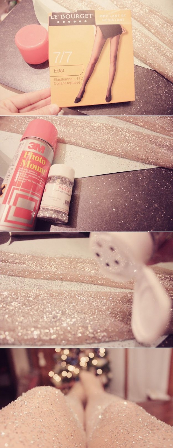 Glitterize a Pair of Tights
