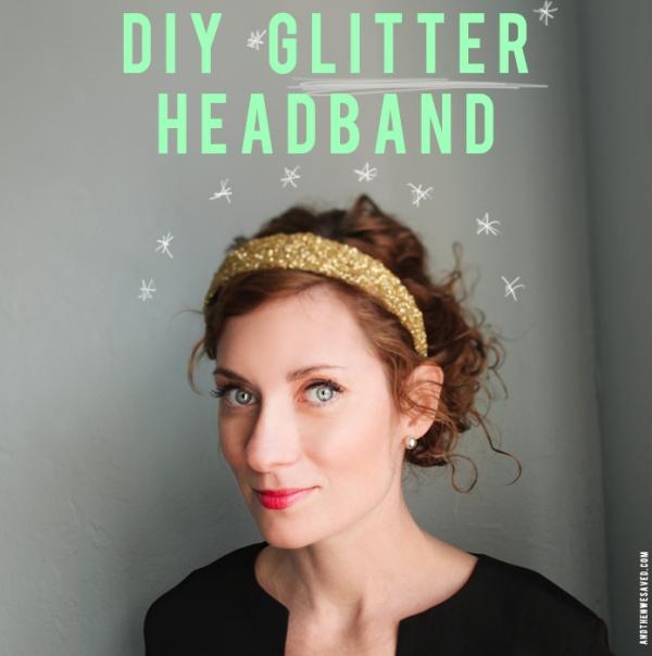 DIY Glitter Headband