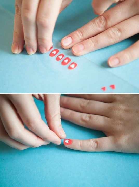 Paint Your Nail Art Designs on a Plastic Sandwich Bag First, Peel Them off, and Seal Them on Your Nails with Nail Art Glue