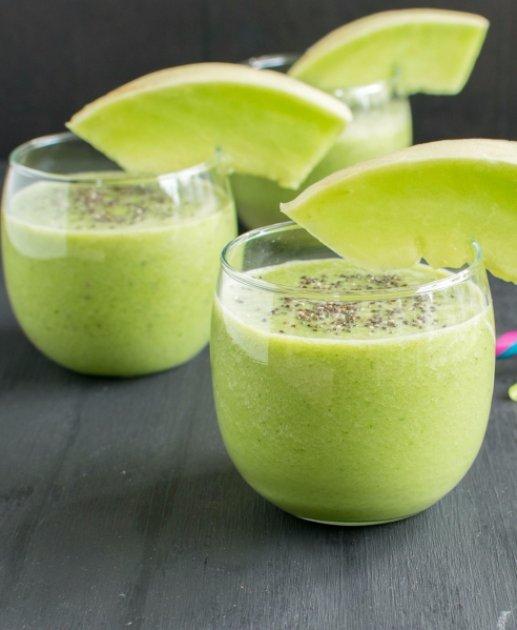 Kale Honey Dew Melon Smoothie