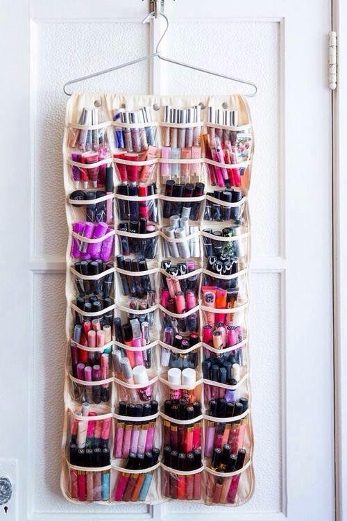Use over the Door Shoe Hangers for All Your Small Stuff