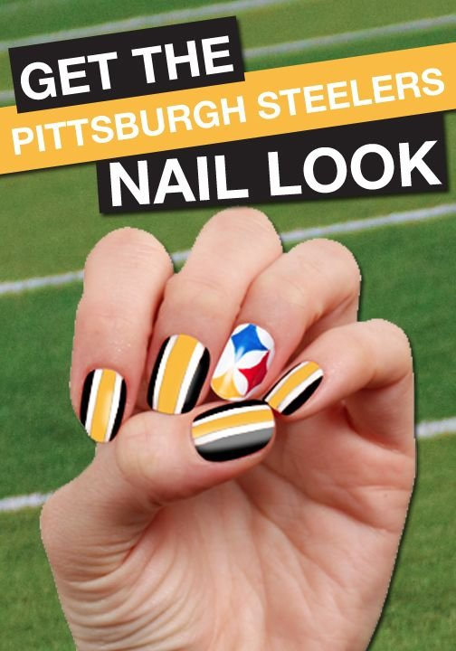Steelers Nail Art Decals - Nails - Nail Polish, Nail Colour, Nail ...