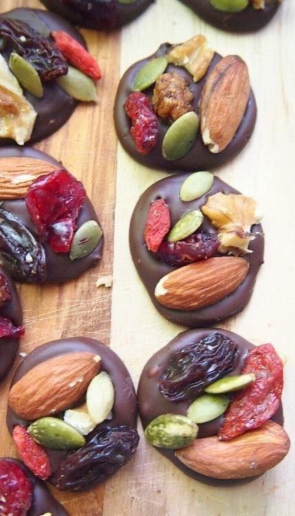 Dark Chocolate Trail Mix Energy Bites