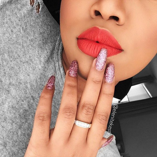 nail, face, finger, lip, beauty,