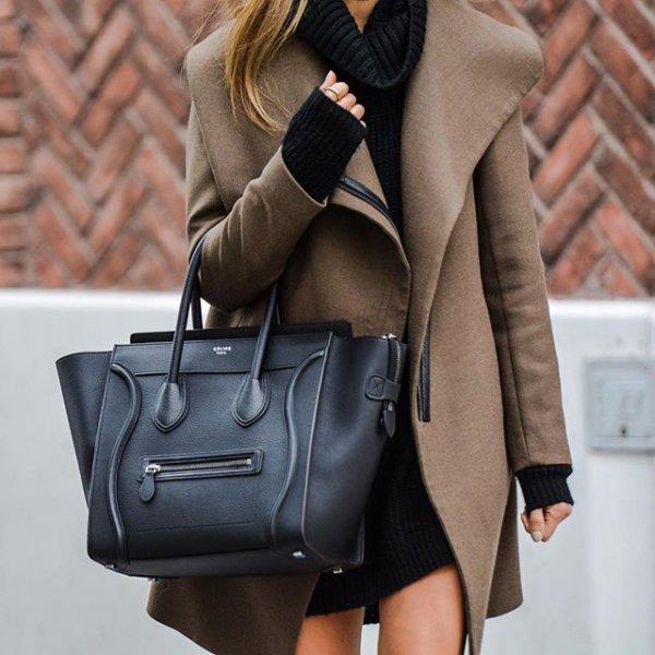 bag, handbag, clothing, brown, leather,