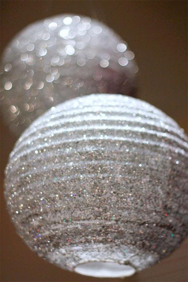 How to Make Fabulous Glittered Lanterns