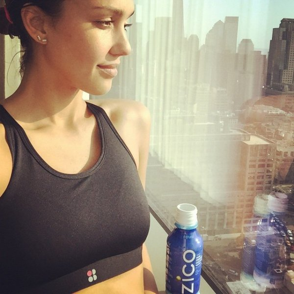 Jessica Alba is Almost Too Pretty after Her Workout