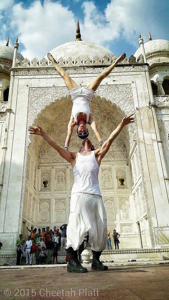 Posing at the Bibi Ka Maqbara - Aurangabad, India