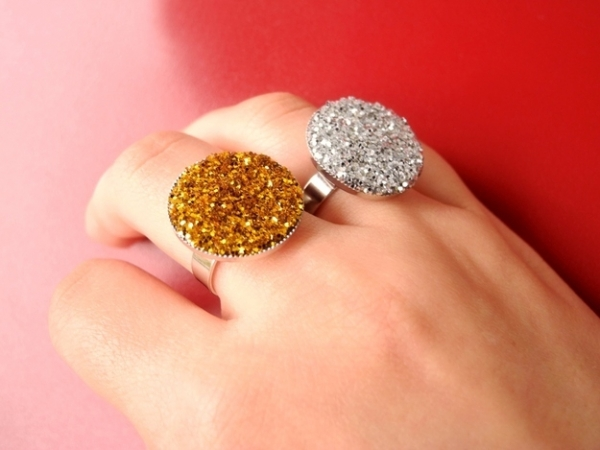 Glitter Statement Rings