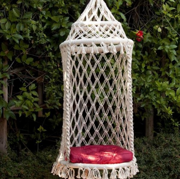 Another Macramé Chair. Via Macrame Hanging Chair Instructions