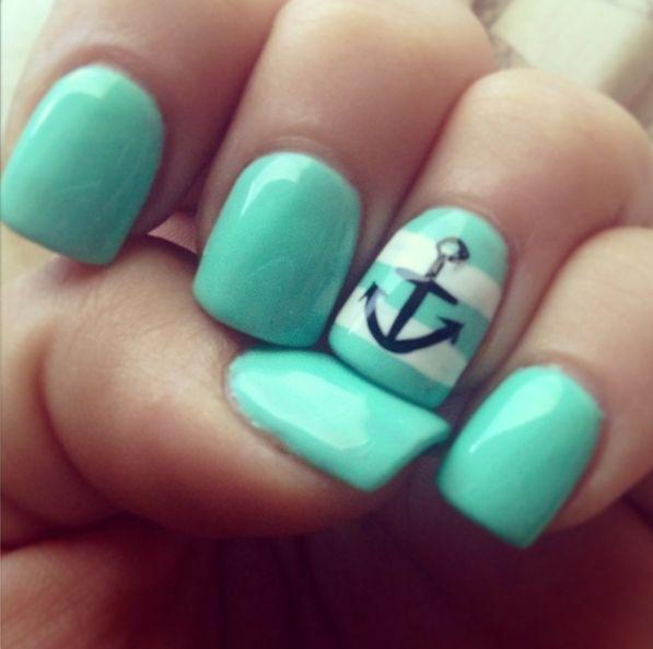 Tiffany Blue Nail Art: 24 Fancy Nail Art Designs That You'll