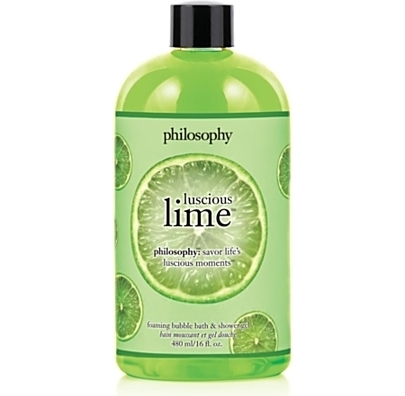 philosophy luscious lime bubble bath shower gel 7 fab spring. Black Bedroom Furniture Sets. Home Design Ideas
