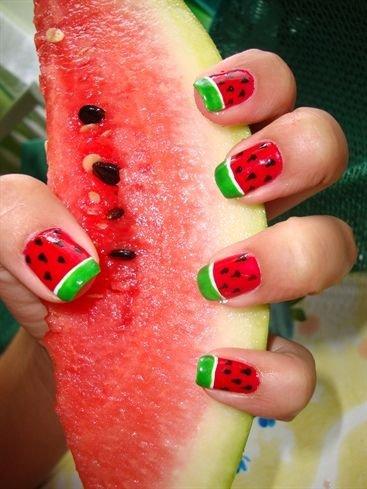 summer watermelon  40 awesome beach themed nail art ideas to…