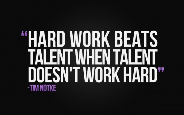 Hard Work is More Important than Talent