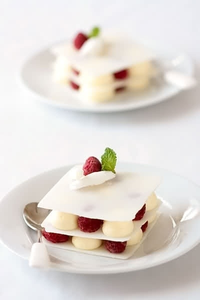 12 White Chocolate Mousse Plated Dessert 27 Positively
