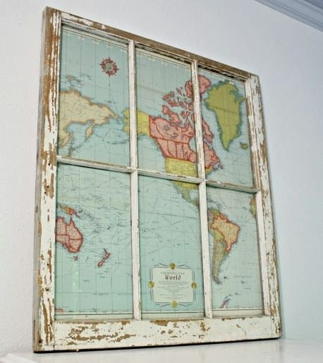 An Old Window + an Old Map