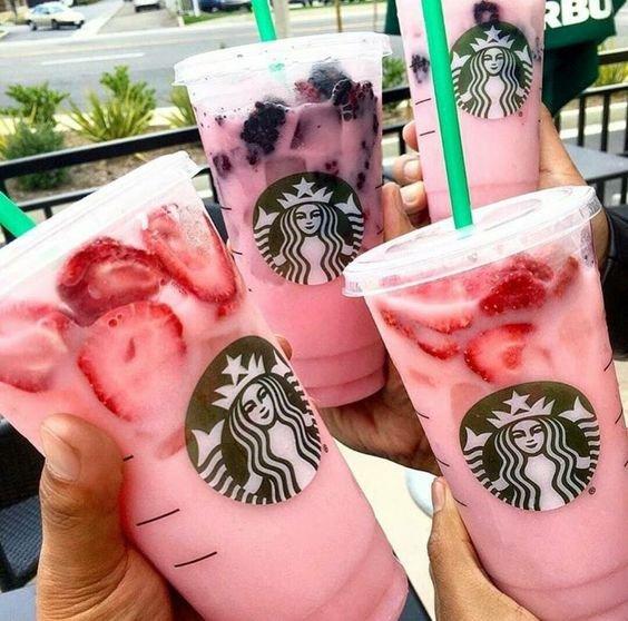 Starbucks, Starbucks, pink, tattoo, arm,