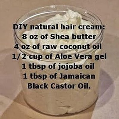 A Naturally Moisturizing Hair Cream