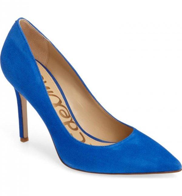 high heeled footwear, blue, cobalt blue, footwear, electric blue,