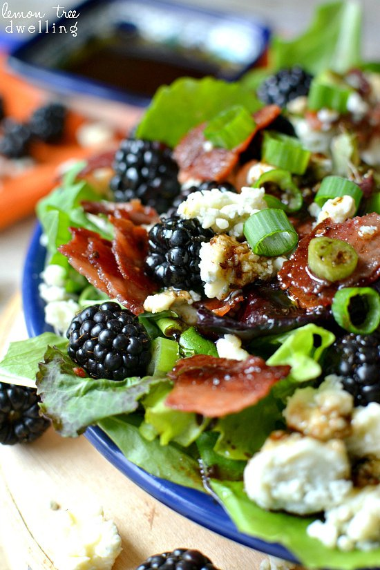 Blackberry, Bacon and Blue Cheese Salad